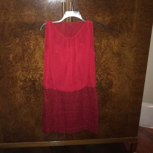 Liliana Size 4 Red Sequined Cocktail Dress